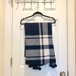 Navy and White JCrew Scarf